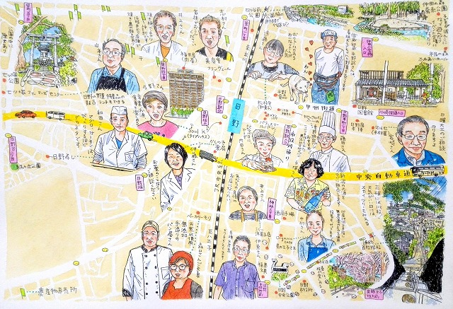 ひの人MAPのイラストマップ